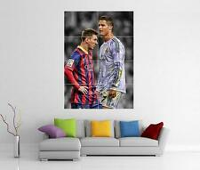 Lionel Messi e cristiano RONALDO GIANT WALL ART PICTURE PRINT PHOTO POSTER