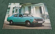 DATSUN SUNNY 120Y COUPE SALOON ESTATE 1976 UK BROCHURE JG Allison Doncaster