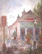 Cafe' Du Monde New Orleans by Lucretia Restrepo (Signed And Numbered) 11 x 14