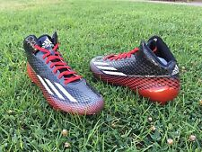 Adidas Mens Shoes Football Adizero 5-Star 3.0 Size 9 1/2 Black/Red/White G99463