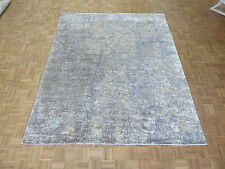 8 X 10 Hand Knotted Multicolored Modern Tibetan Oriental Rug With Silk G4306
