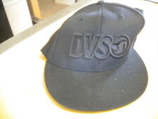 NOS DVS Hat Black 210 Fitted by Flex Fit Size 6 7/8 - 7 1/4
