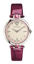 Versace Women's Olympo Watch VAN010016 Crystal Violet Crocodile Print Leather