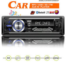 Bluetooth Car Stereo Radio Head Unit Player With MP3 USB SD AUX-IN RDS FM iPhone