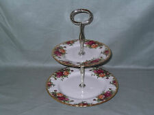 Royal Albert Old Country Roses Bone China 2-Tier Hostess Cake Stand