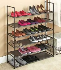 6-Tier Storage Shoe Rack 24 Pair Shoe Organizer Stackable Space Saving Bedroom
