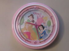 Very Rare Vintage Disney Princess Wall Clock Pink Neon Light Up Collectible