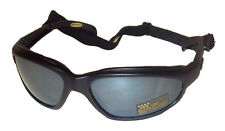CHOPPER Foam Padded Riding Sunglasses Motorcycle Goggles With Strap MIRRORED