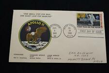 SPACE COVER 1969 APOLLO 11 MOON LANDING & 1ST DAY ISSUE DUAL CANCEL (2580)