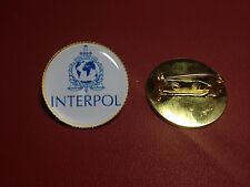 INTERPOL '  International Criminal Police Organization,`Gold Plated PIN Badges