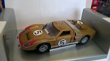 UNIVERSAL HOBBIES EAGLE'S RACE 1:18 FORD GT 40 ORO GOLD 24H LE MAN 1966 ART 3040