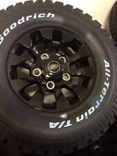 "16""  Defender 90 Sawtooth style alloy wheels / tyres set of 5"