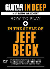 HOW TO PLAY IN THE STYLE OF JEFF BECK GUITAR WORLD DVD NEW