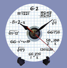 ALGEBRA - MATHS - QUARTZ CD / DVD DISC CLOCK - TEACHERS GIFT CAN BE PERSONALISED