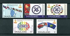 Swaziland 2016 MNH 36th SADC Summit 5v Set Flags Stamps