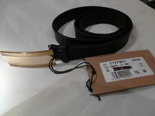 DSQUARED  BNWT SKINNY BLACK LEATHER BELT ITALY SIZE M