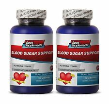 Blood Sugar Support. Dietary Supplement Pills Cardiovascular Health (2 Bottles)