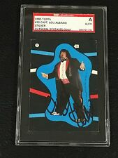 CAPTAIN LOU ALBANO 1985 TOPPS WWF STICKER SIGNED AUTOGRAPHED CARD SGC AUTHENTIC