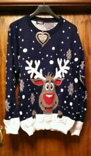 CHRISTMAS  REINDEER JUMPER_WOMANS_GIRLS_LADIES_XMAS GIFT-SIZE 20-TOP