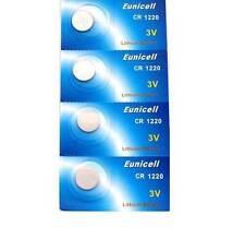 EUNICELL- 4 Batterie Litio 3 volt CR1220 BR1220 DL1220 ECR1220 PA 5012LC