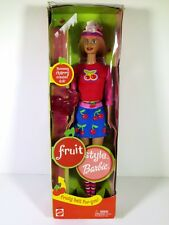 NIB BARBIE DOLL 2002 FRUIT STYLE CHERRY **