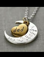 DAD I Love You To The Moon And Back Necklace GREAT FOR VALENTINES DAY