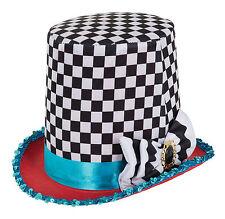 Adulto a scacchi Mad Hatter Tea Party Costume Cappello Accessorio Costume bh652