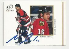 2002 Fleer Legacy Autographed Hockey Card Michel Goulet Chicago Blackhawks