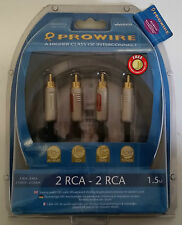 Brand New PROWIRE VIVANCO 2RCA to 2RCA  Gold Plated AUdio Cable 1.5M