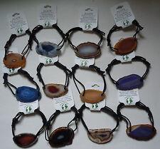 12 AGATE BRACELETS - Unique Stone Jewelry - Bulk Wholesale Lot Pack G14 - NEW