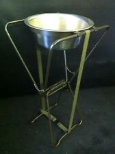 FOLDING ALUMINUM BASIN STAND w/ CANVAS CASE MILITARY ISSUE CAMPING Used Exc Cond