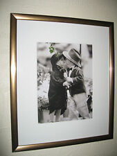 First Kiss & Forget-Me-Not - 2 Gorgeous Framed Pictures of Children 8x10