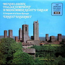 SPA 153 Mendelssohn Italian Symphony Midsummer Nights Dream Ansermet NM/EX Decca