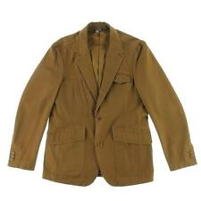 HICKEY FREEMAN - NWT - Mens Brown Cotton Structured Sportcoat Jacket 40 - NEW