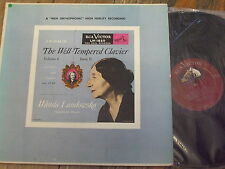 LM-1820 Bach The Well-Tempered Clavier Book II Vol. 6 / Landowska US SHADED DOG