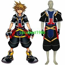 Kingdom Hearts Sora Halloween Cosplay Costume Underwear Shorts Shirt Overcoat