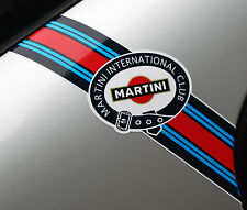 MARTINI CLUB style 'Flashes' logo stripes PORSCHE FIAT ABARTH LANCIA ALFA ROMEO