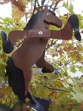 Bay Horse Mini Whirligigs Whirligig Windmill Yard Art Hand made from wood