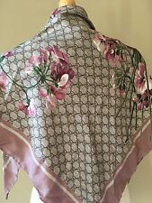 NEW GUCCI Floral-Print Guccissima Foulard Scarf Pink (SOLD OUT)