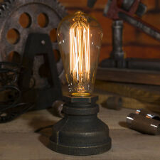Steampunk Iron Table Lamp Vintage Style Desk Light Iron Base Bulbs not included