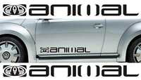 2x Large Animal surf logo vinyl car / van graphic decal stickers in any colour