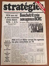 Magazine STRATÉGIES N° 180 (du 22 janvier au 4 février 1979)