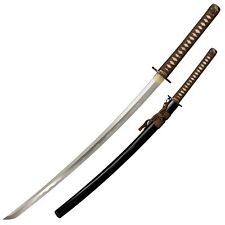 Cold Steel Mizutori Crane Katana Sword 1095 Carbon Brown Braid Cord Handle 88CKK