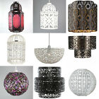 Shabby Chic Moroccan Ceiling Light Shade Pendant New Vintage Style New