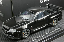 Ebbro 1:43 Nissan Skyline GT-R BNR34 V-Spec II Die Cast Model Sport Cars (Black)