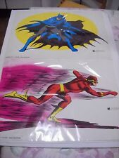 SERIE CMPL POSTER MANIFESTI WILLIAMS BATMAN SUPERMAN FLASH LANTERNA VERDE