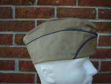 WWII US Army Air Corp Garrison Cap (Orange/Blue Piping) Lined 7-3/8