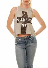 Wildfox Brand Witches Perfume Island Women Tank Grey Size L Sleeveless BCF55
