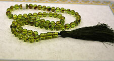 Green Dominican Amber 66 Round 8 mm Balls Islam Prayer Beads Misbaha Tasbih