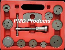 Disc Brake Caliper Piston Compressor Windback Wind Back Pad Tool 12pc + case
